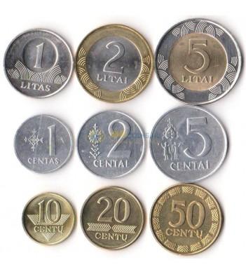 Литва 1991-2013 набор 9 монет