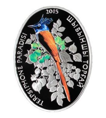 Казахстан 2015 500 тенге Райская мухоловка