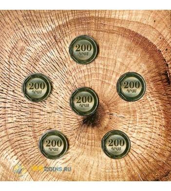 Армения 2014 200 драм набор 6 монет Листья в буклете