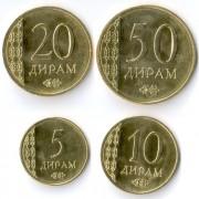 Таджикистан 2015 Набор 4 монеты