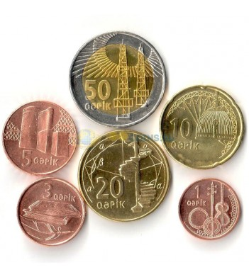 Азербайджан 2006 набор 6 монет