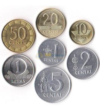 Литва 1991-2010 набор 7 монет