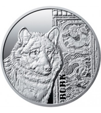 Украина 2016 5 гривен Волк (серебро)