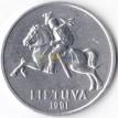 Литва 1991 5 центов