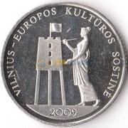 Литва 2009 1 лит Вильнюс культурная столица Европы