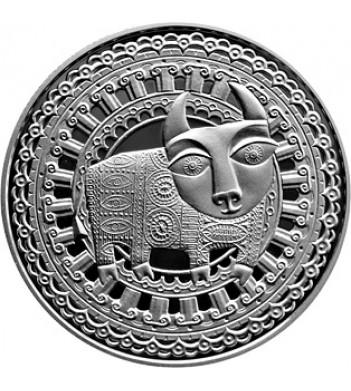 Беларусь 2009 1 рубль Телец Знаки зодиака