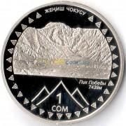 Киргизия 2011 1 сом Пик Победы