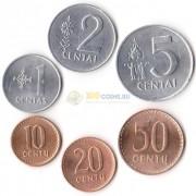 Литва 1991 набор 6 монет