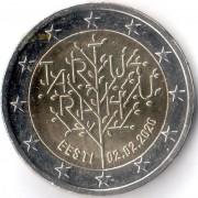 Эстония 2020 2 евро Тартуский договор