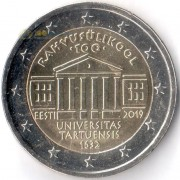 Эстония 2019 2 евро Тартуский университет