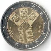 Эстония 2018 2 евро Независимость прибалтийских государств