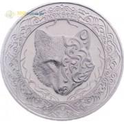 Казахстан 2018 100 тенге Кекбери небесный волк