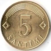 Латвия 2007 5 сантимов