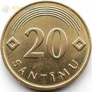 Латвия 2009 20 сантимов