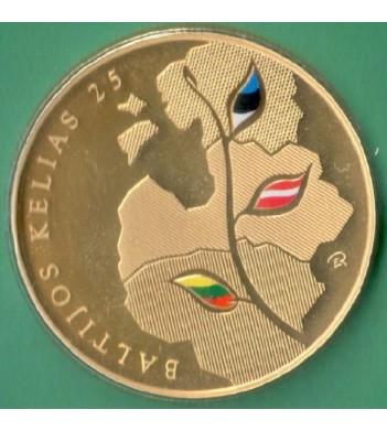 Литва 2014 25 литов Балтийский путь