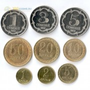 Таджикистан 2019 набор 9 монет