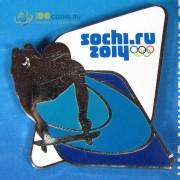 Значок Сочи 2014 Спортивные силуэты-2 Скелетон