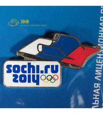 Значок Сочи 2014 Спортивный инвентарь Сани для скелетона