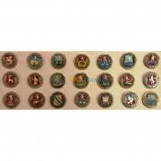 Набор 21 значок Гербы древних городов России
