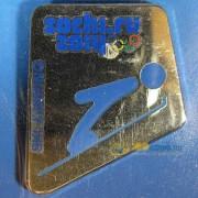 Значок Сочи 2014 Пиктограммы Прыжки на лыжах с трамплина