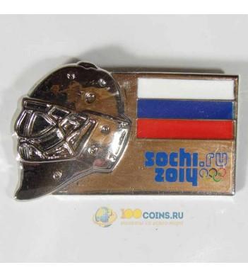 Значок Сочи 2014 Хоккейные маски Россия