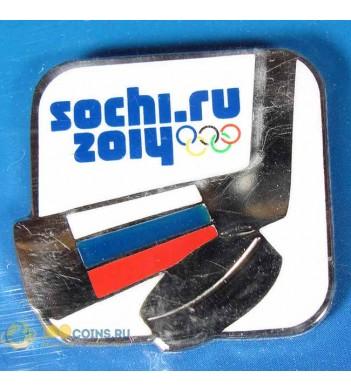 Значок Сочи 2014 Спортивный инвентарь Хоккейная клюшка