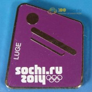 Значок Сочи 2014 Пиктограммы Санный спорт