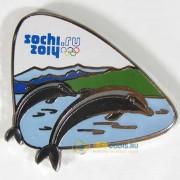 Значок Сочи 2014 Природный мир Дельфины