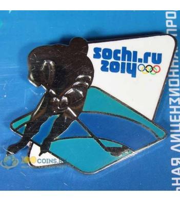 Значок Сочи 2014 Спортивные силуэты-2 Хоккей на льду