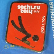 Значок Сочи 2014 Пиктограммы Санные виды спорта Скелетон