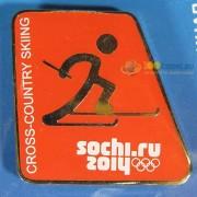 Значок Сочи 2014 Пиктограммы Лыжные гонки